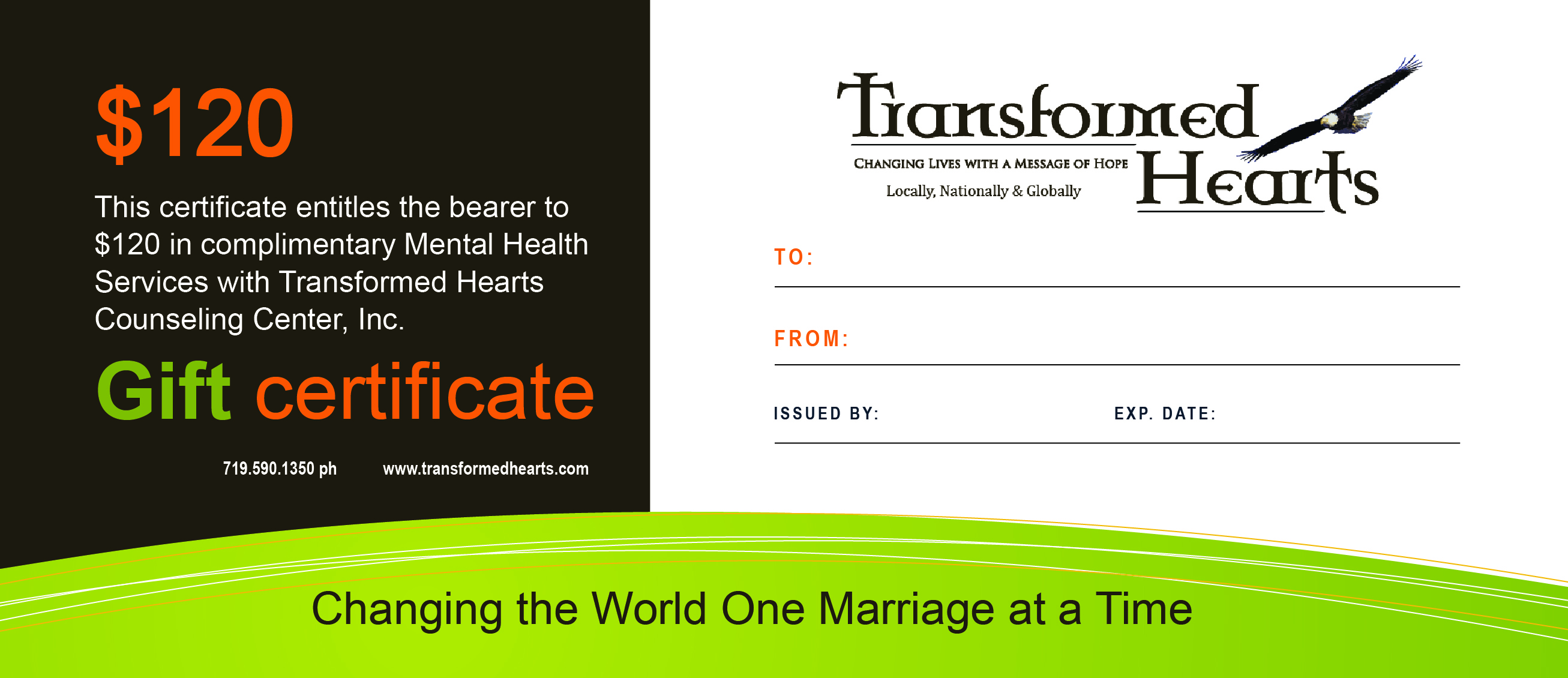 Counseling gift certificates transformed hearts counseling gift certificate xflitez Choice Image